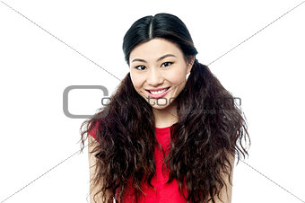 Portrait of smiling young chinese girl