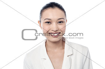 Smiling beautiful corporate woman