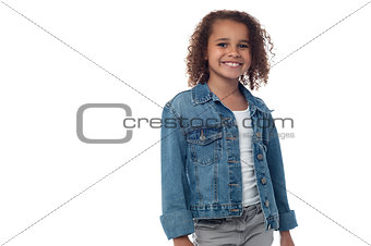 Little girl poses for a picture