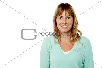 Casual woman on white background