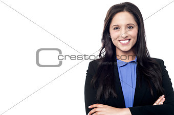 Smart beautiful business woman posing