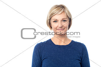 Portrait of smiling middle aged woman