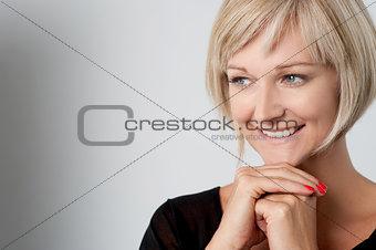 Portrait of gorgeous woman