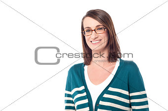 Attractive smiling woman posing