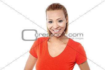 Attractive young woman in casuals