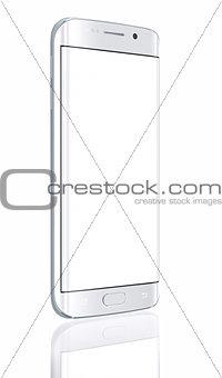 Smartphone edge with blank screen