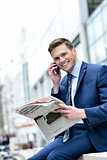 Businessman talking on the mobile phone