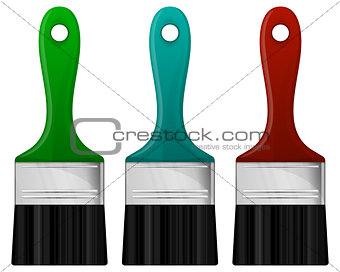 Paint brush in 3 color