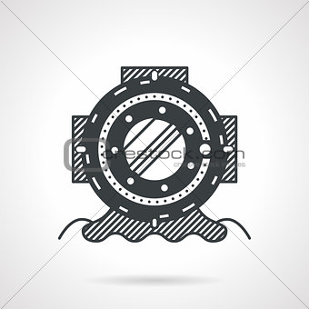 Black vector icon for depth helmet