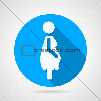 Flat round vector icon for motherhood