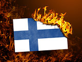 Flag burning - Finland
