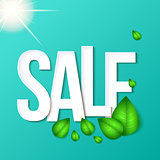 Sale typography background. Vector