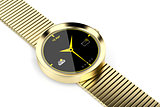 Gold smart watch