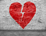 Shape of broken heart