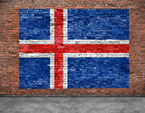 Flag of Iceland and foreground