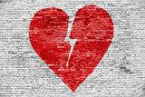 Shape of broken heart