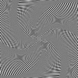 Torsion and rotation movement. Op art design.