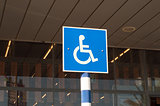 sign of disabled parking
