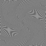 Rotation movement. Abstract op art design.