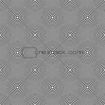 Circles pattern. Seamless checked texture.