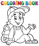 Coloring book pupil theme 4