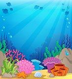 Ocean underwater theme background 4