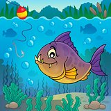 Piranha fish underwater theme 3