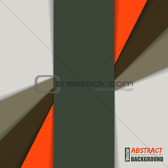 Abstract brochure with shadow stripes