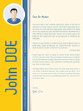Modern cover letter resume with shadow design