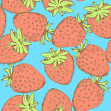 Sketch tasty strawberry in vintage style