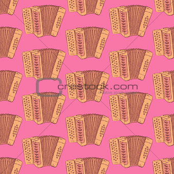 Sketch accordion music instrument
