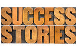success stories typography