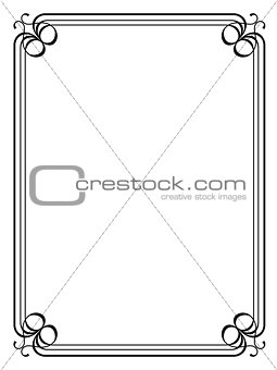 Art Deco black ornamental decorative frame