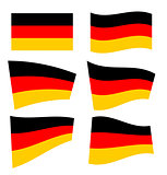 Set of german flags