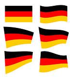 Set of german flags
