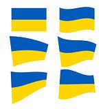Set of ukrainian flags