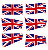 Set of british flags