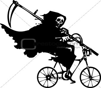 Grim Reaper on a Bicycle