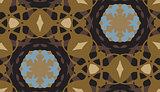 Seamless Brown Geometric Background