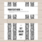 Set of Business Cards with Patterns