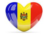 Heart shaped icon with flag of moldova