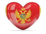 Heart shaped icon with flag of montenegro