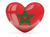 Heart shaped icon with flag of morocco