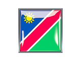 Square icon with flag of namibia