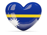 Heart shaped icon with flag of nauru