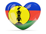 Heart shaped icon with flag of new caledonia