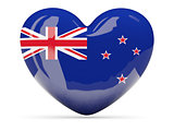 Heart shaped icon with flag of new zealand