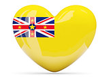 Heart shaped icon with flag of niue