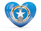 Heart shaped icon with flag of northern mariana islands