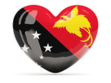 Heart shaped icon with flag of papua new guinea